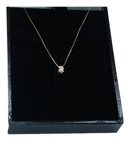 Pocao2005- Colar De Ouro 18k750 Diamante 12x S/j Ft/gt C364