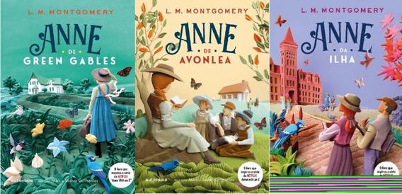 Kit 3 Livros Anne Green Gables + Avonlea + Ilha Ed Autentica