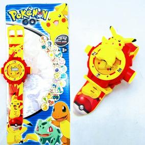 Relógio Digital Infantil Pokémon Go Com Projetor De Imagens
