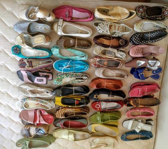 Zapatos Tipo Bailarina Cuarenta Y Cuatro Pares Usados