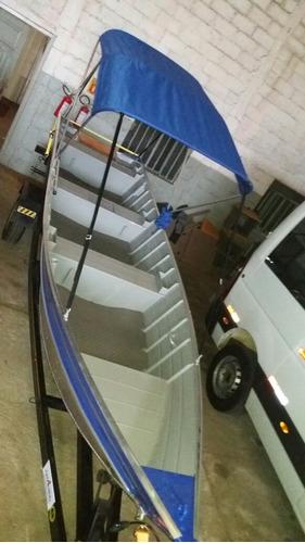 Barco 6m Aluminio E Carreta  Motor 15 Hidea