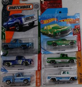 Hw E Mbx 6 Pickups Chevy El Camino Stepside Dodge Ford