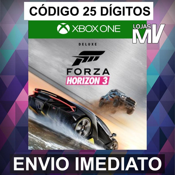 Forza Horizon 3 Deluxe Xbox Live 25 Dígitos