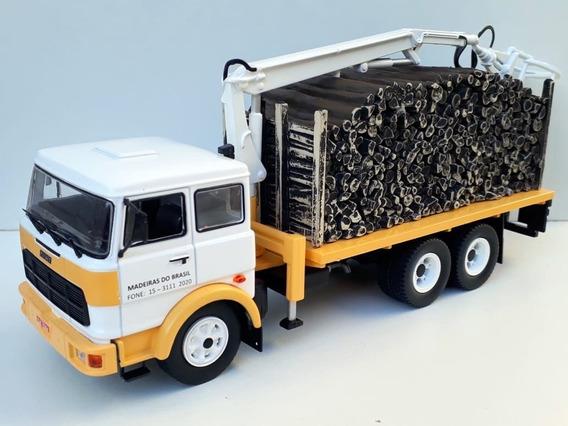 Miniatura Caminhão Fiat Madeira + Mercedes Bebida 1/43