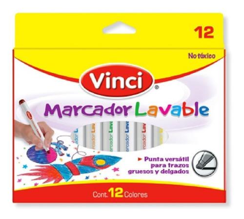 Imagen 1 de 1 de Paquete Marcadores Lavables Vinci 12 Pzs