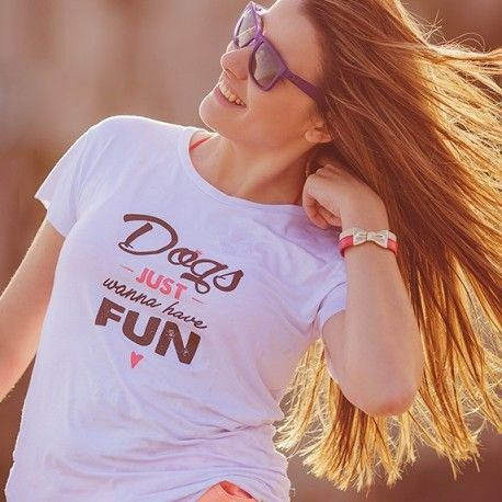 Camiseta Dogs Just Wanna Have Fun Pet Lover Especial