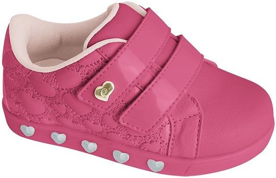 Tênis Pampili Sneaker Luz Pink Verniz