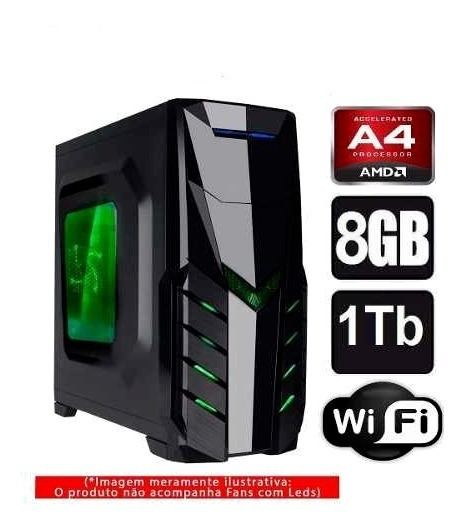 Cpu Gamer Amd A4 6300/ 1tb/ 8gb/ Hd 6570 2gb/ Hdmi/ Gta,csgo