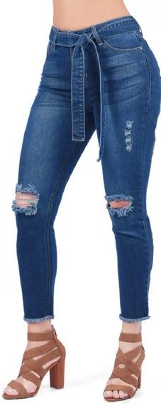 Jeans Dama Cklass Azul 172-84 Oi-19 Con Lazo