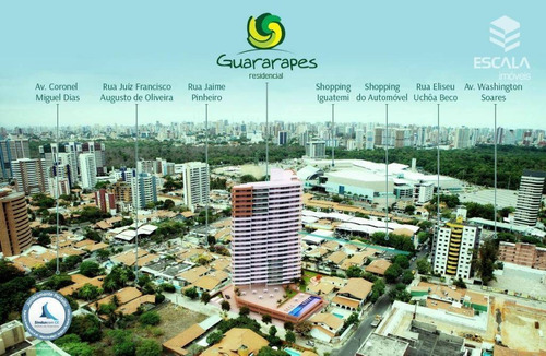 Imagem 1 de 30 de Apartamento Com 3 Quartos À Venda, 78 M², Área De Lazer,2 Vagas, Financia - Guararapes - Fortaleza/ce - Ap0660
