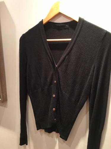 Pullover Saquito Marca Kill Color Negro Abotonado