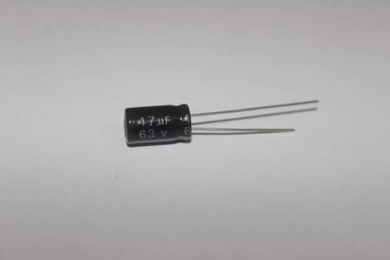 100 Capacitor Eletrolítico 47uf 63v Ø6,35x11mm 105 °c