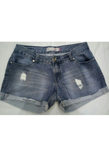 Short Jeans Hering N.44 Barra Dobrada Destroyed