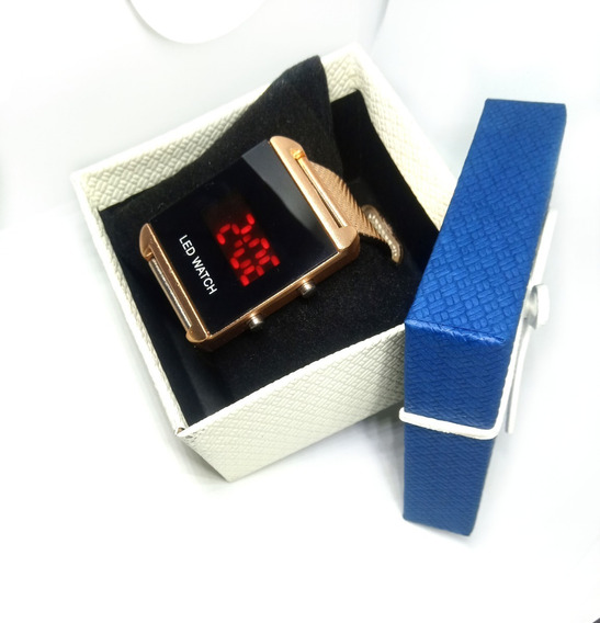 Kit 05 Relógios Feminino Digital Quadrado + Caixa - Revenda