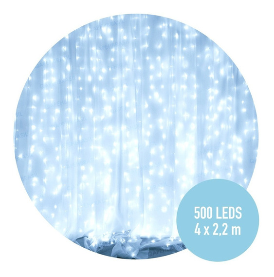 Cortina 4mx2,2m 500 Leds Fixos Branco 110v Para Festas 5fb1
