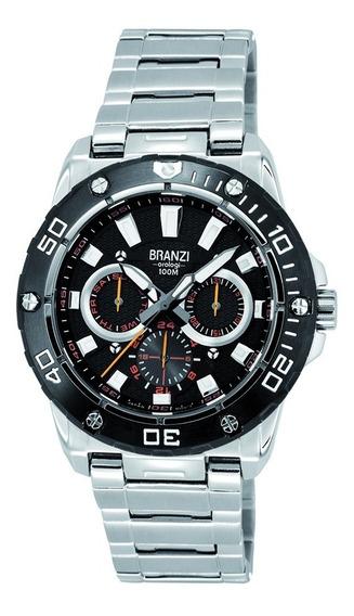 Reloj Hombre Branzi By Citizen 20593 Acero Inox. Regalo Papá