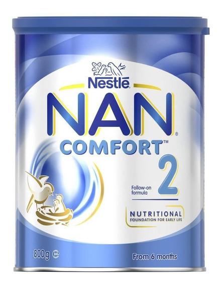 Fórmula infantil em pó Nestlé Nan Comfort 2 em lata de 800g