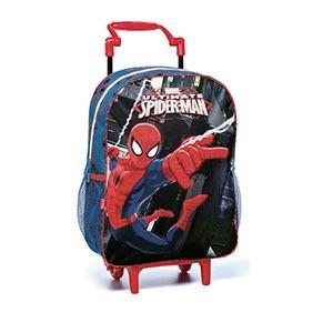 Mochila Infantil Com Rodinhas Homem Aranha