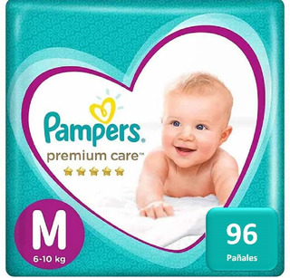 Pañales Pampers Premium Care 96 Unidades Talla M