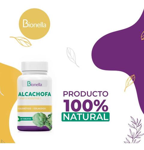 Imagen 1 de 4 de Tabletas De Alcachofa Bionella