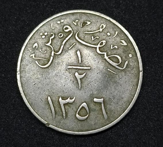 Arabia Saudita - Moneda De 1/2 Girsch - Año 1937