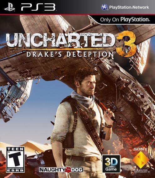 Uncharted 3 Drakes Deception - Psn Ps3 Dublado Português Br