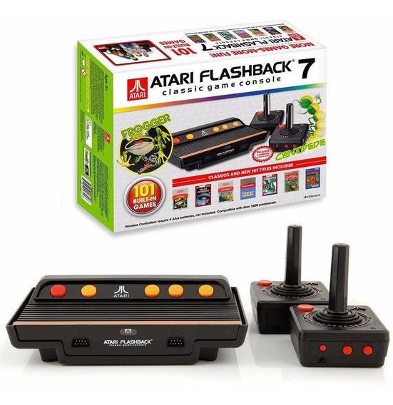 Console Atari Flashback 7 Video Game Com Jogos E 2 Controles