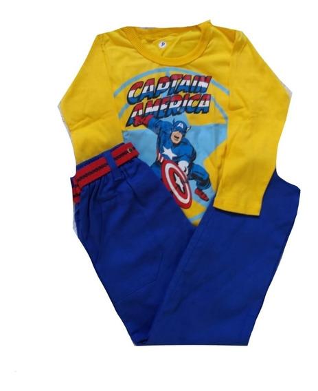 Kit 3 Conjunto Infantil Camiseta E Calça Menino Personagens