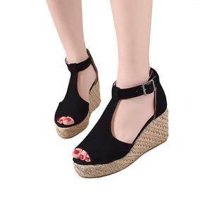 2432605a21 Sapato Salto Wedge Preto - Sapatos no Mercado Livre Brasil