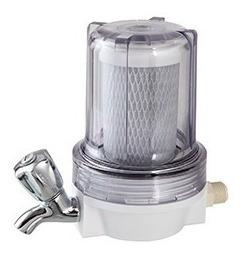 Filtro Torneira 5 Pou 125 Transparente Com Torneira Metal