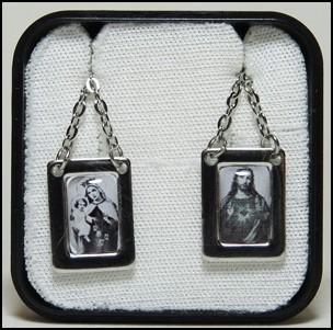 Escapulário Aço Inox De Nossa Senhora Do Carmo