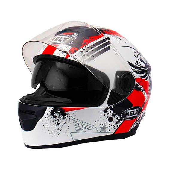 Capacete Race Glass Wings N 61 Branco/vermelho
