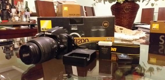 Maquina Nikon D-3200 +flash Nikon Sb700