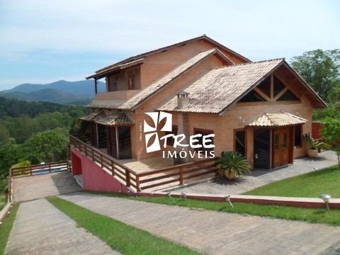 Aluga(pacote) Ou Vende - Casa Em Santa Isabel Localizado Em Condomínio Fechado. Reserva Ibirapitanga, Residencia Om 4 Suítes, - Ca00733 - 2020461
