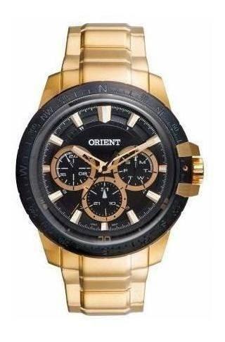 Imagem 1 de 2 de Relógio Orient Masculino Mgssm019 P1kx Dourado Original