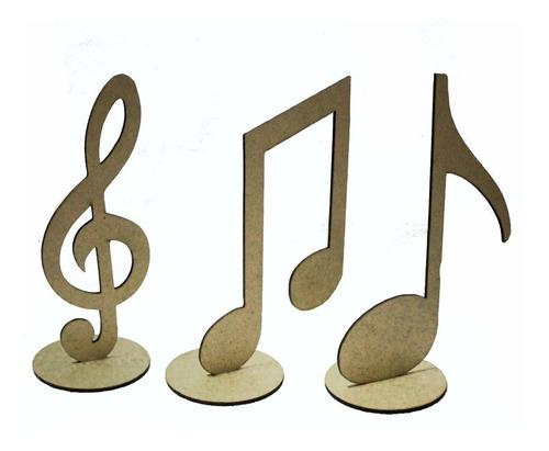 Imagem 1 de 1 de 30 Notas Musicais Mdf Centro De Mesa Lembrancinha Festas