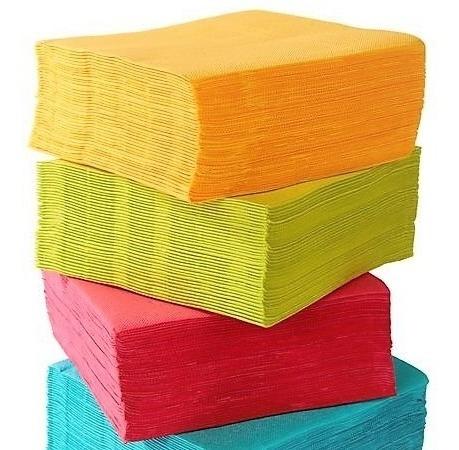 400 Servilletas Papel Coctel Colores Surtidos Premium Fiesta