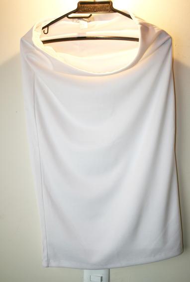 Falda Blanca Larga Forever 21 Usada