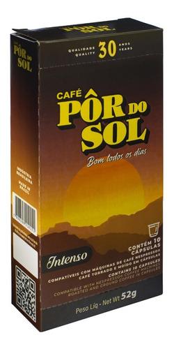 Imagem 1 de 1 de Café Pôr Do Sol Intenso Cápsulas (caixa C/ 10 Unidades)