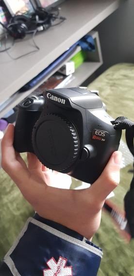 Kit Câmera Canon Eos Rebel T6 Com 2 Lentes E Cartão