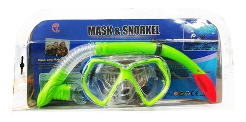 Set Careta En Vidrio Templado + Snorkel Ct
