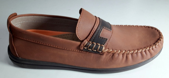 Zapato Cuero Hopper Art 1822 Color Marron