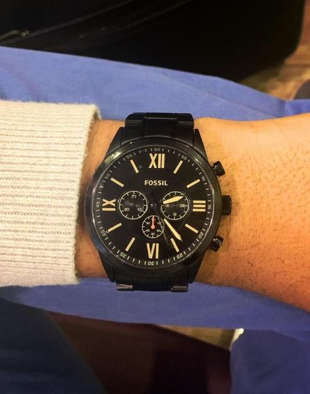 Relógio Masculino Fossil Original Aço Black Envio Mesmo Dia
