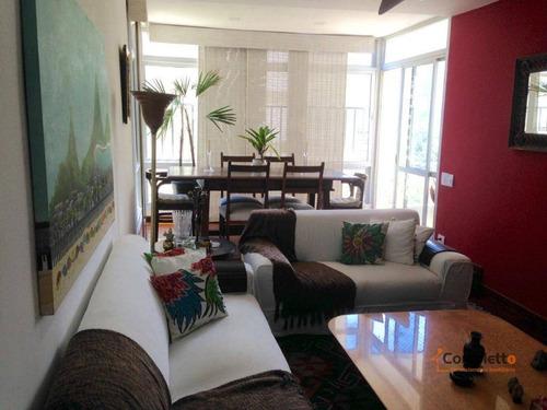 Apartamento Com 3 Dormitórios À Venda, 114 M² Por R$ 1.100.000 - São Conrado. - Ap0110