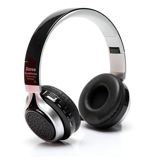 Fone De Ouvido Bluetooth Luz Led Microfone Sem Fio Fm St430