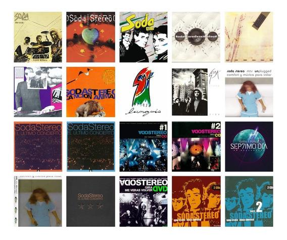 Soda Stereo - Discografia Completa Lote 17 Cds + 3 Dvds