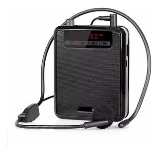 Megáfono Amplificador Con Bluetooth Vincha Micrófono Fm Usb
