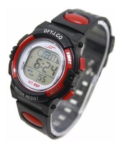 Relógio Infantil Digital Led Com Alarme 5 Luzes Diferentes V