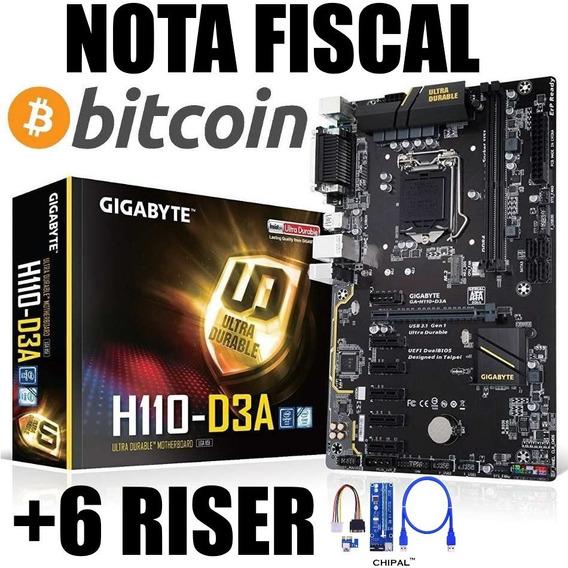 Placa Mae Gigabyte Ga-h110-d3a 6 Gpu Mineracao Bitcoin Btc