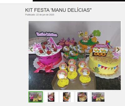 Faça A Sua Festa!! Kit Festa Manu Delícias